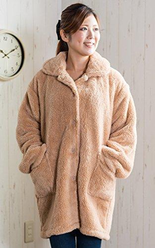 【ふんわり温かい超極柔マイクロファイバー着る毛布 着丈85c...