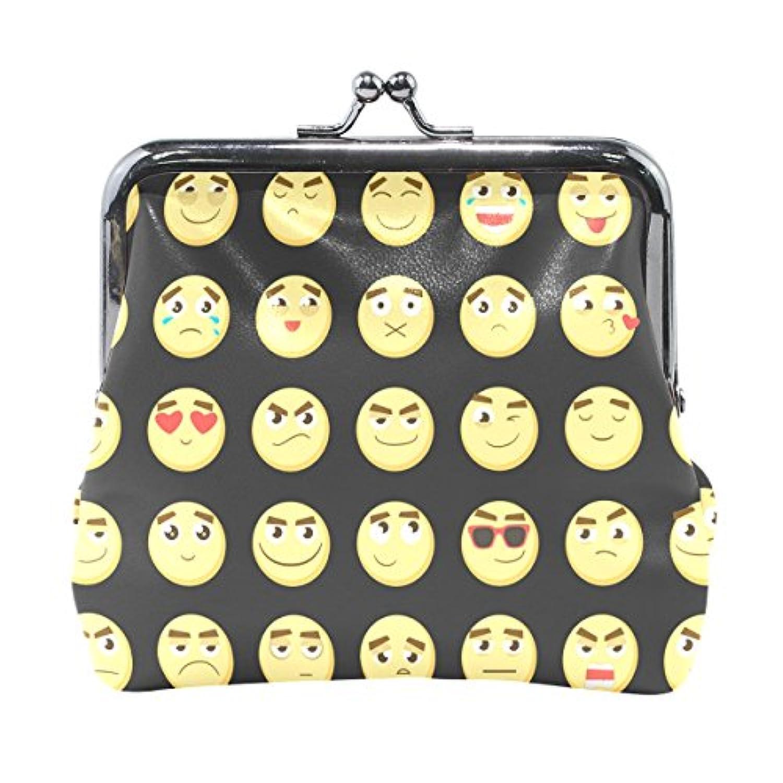 バララ(La Rose) 財布 がま口 小銭入れ レディース ブランド 和柄 かわいい PU 革 レザー おもしろい 表情 コミカル柄 学生 ミニポーチ 財布 ポーチ 小物入れ コイン 鍵 カード収納 約幅11.5cmx10.5cm