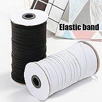 Elastic Ribbon Elastic Cord,3mm Braided Elastic Cord Heavy Stretch String Band Rope 200 Yard Sewing Spool for Jewellery Making