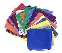 バルクdeal-set 100の基本的なドローストリングバックパックバッグ、不織布ソリッドカラーMultipurposeバックパック、