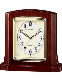置き時計 電波時計 パルロワイエR406 木枠 リズム時計 8RY406-006