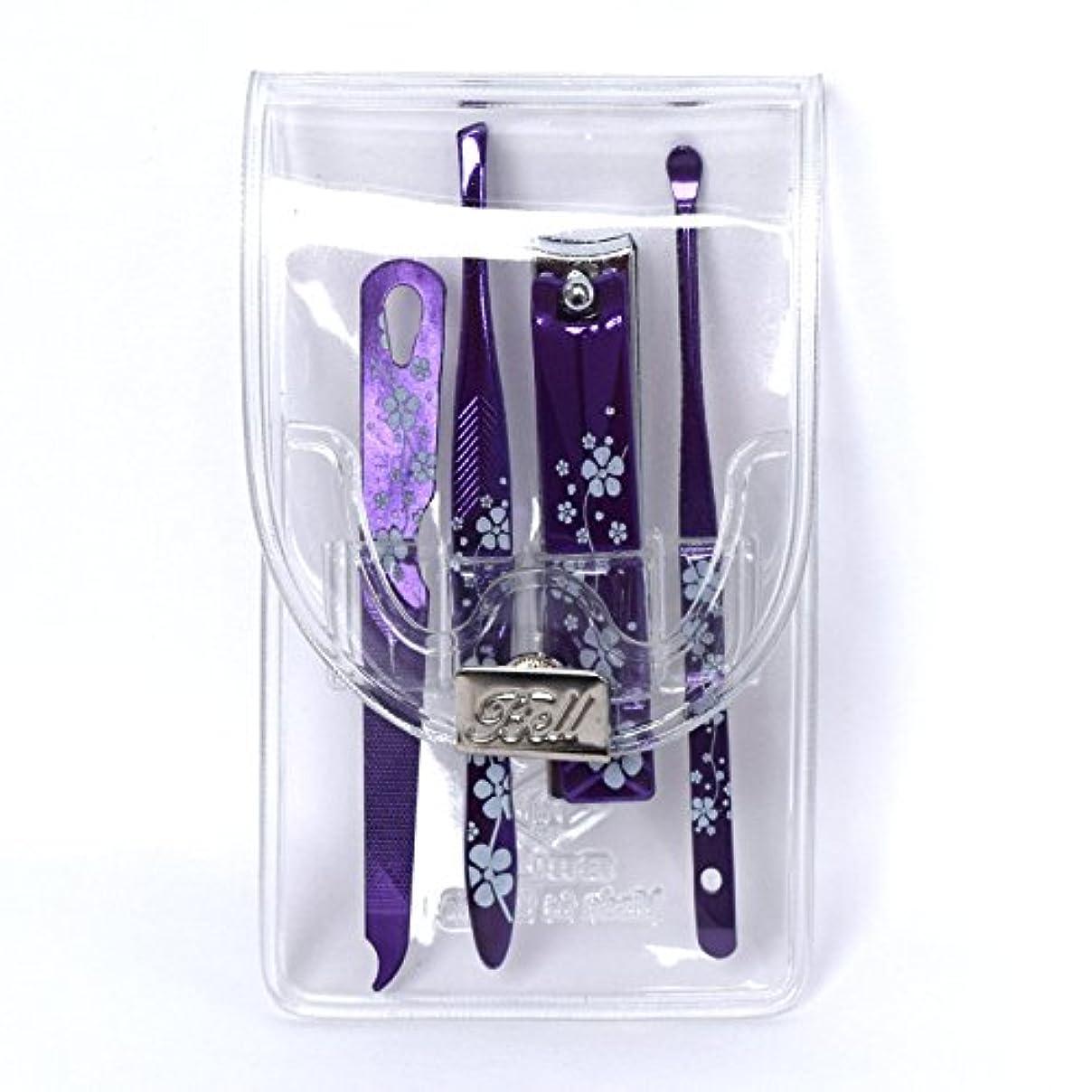 ドラマいっぱいアーティファクトBELL Manicure Sets BM-991C ポータブル爪ケアセットトラベル爪切りセットステンレス鋼の失速構成透明高周波ケースPortable Nail Clippers Nail Care Set