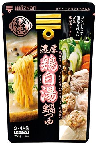 ミツカン 〆まで美味しい濃厚鶏白湯鍋つゆ ストレート 750g