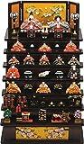 ミニ雛人形 ひな人形『彩寿雛木製七段飾り(茶)3262 』ひな祭り おひな様 【オブジェ 置物】【R494】