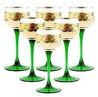 Rhine Wine Glass Set ( 6) withゴールドトリム、.1l