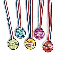 Award Medals Assortment ~ 50 Plastic 1.5 Medals on 16 Patriotic Ribbons ~ New [並行輸入品]