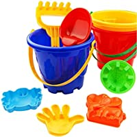 Rosiest 7pcs Kids Children Sandbeachおもちゃ城砂バケットシャベルRake金型ビーチツール