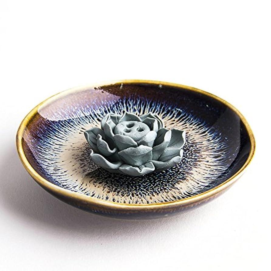 スキム皮描写お香立て お香たて 香の器 お香を焚いて 香皿,陶磁器、黒