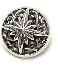 【silver925PLUS】アラベスク太陽コンチョ【シルバー925 ネイティブ カスタム 財布 材料 ボタン ユニセックス】contyo006