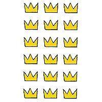 タトゥー シール 2枚 セット クラウン クレヨン デザイン 王冠 tattoo