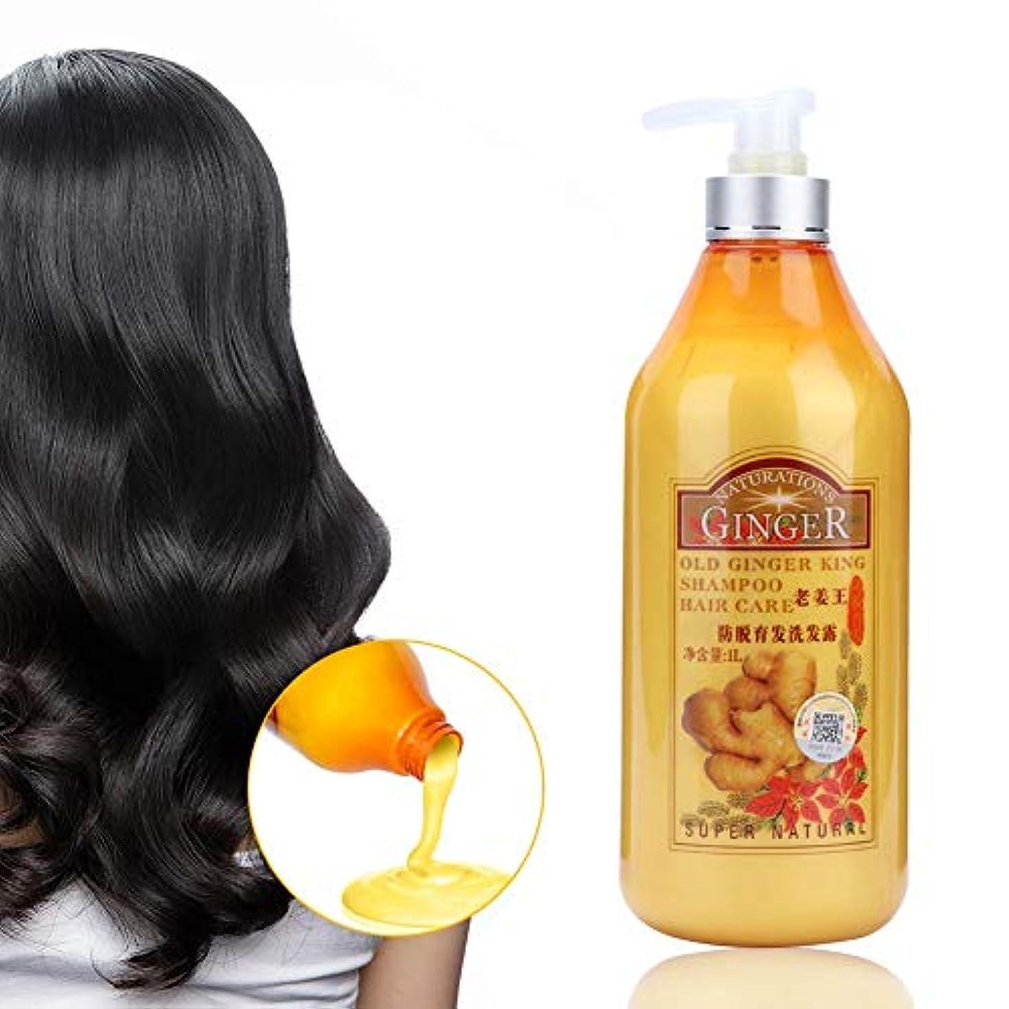 コールグリース予定1000ml ジンジャーシャンプー、プロのふけ防止オイルコントロール栄養頭皮 効果的なドライヘアの改善 頭皮ケア/ヘアケア メンズ レディース かゆみ止めオイルコントロールヘアシャンプー すべての髪のタイプに適しています