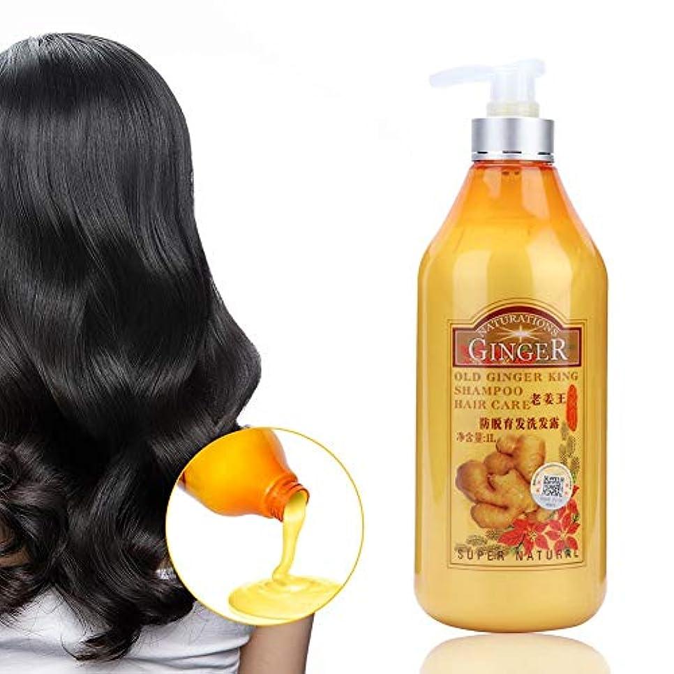 摘む時制湿度ジンジャーシャンプー、すべての髪タイプ1000ミリリットルのための栄養頭皮ケアを修復するプロの抗ふけオイルコントロール