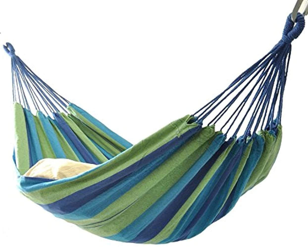明るいフローその後アウトドアハンモック キャンプ用寝具 マルチカラーストライプ パラシュート 吊りテント 2~3人用 折畳み 収納バッグ付き 超広い 軽量 アウトドア 公園 簡単に取り付け