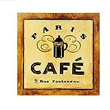 LSpace インテリア 雑貨 おしゃれ な 壁掛け カフェ コーヒー アートパネル アートボード 絵画 ポスター パネル (A, 30×30)