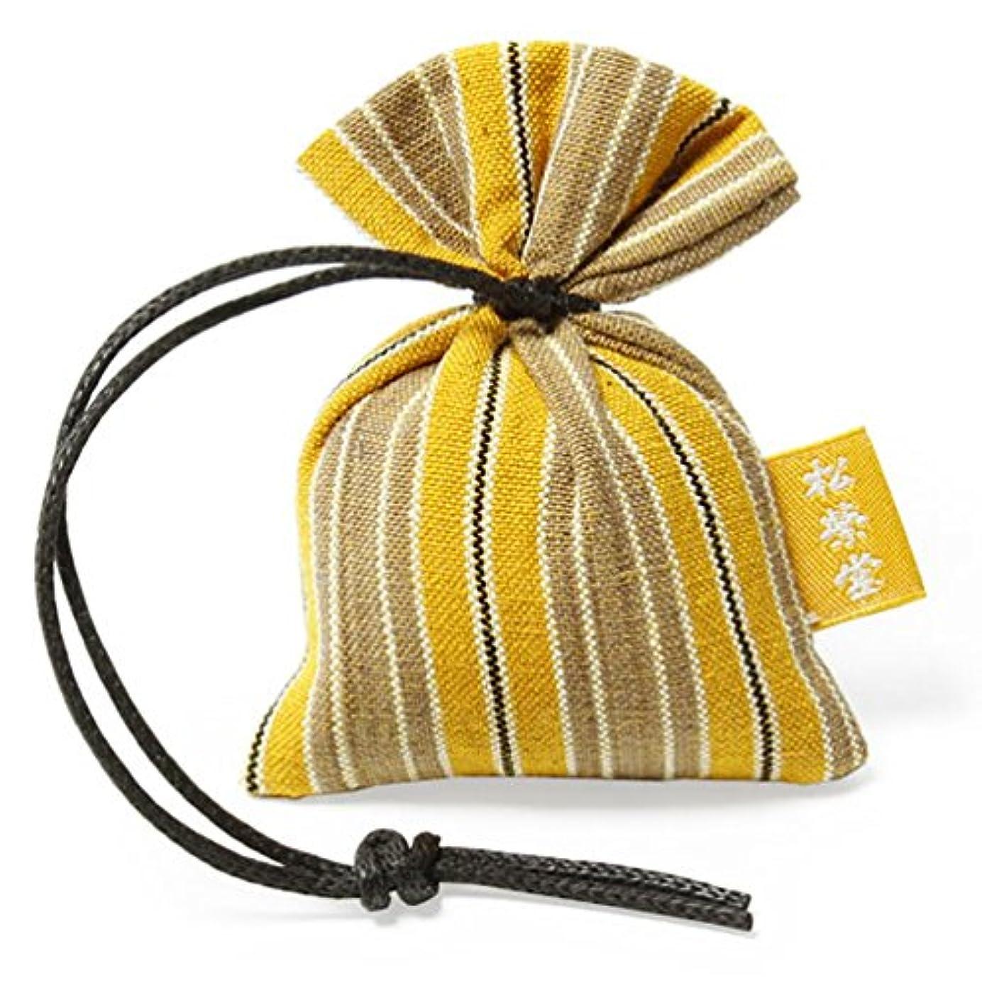 リブ蒸留する計算可能匂い袋 誰が袖 ルリック(縞) 1個入 松栄堂 Shoyeido 本体長さ60mm (色?柄は選べません)