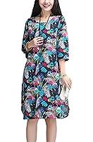(シュガーポート) SUGAR PORT レディース ダイナミックプリント ゆったり ワンピース ドレス ブルー レッド クリーム 3色 SL069