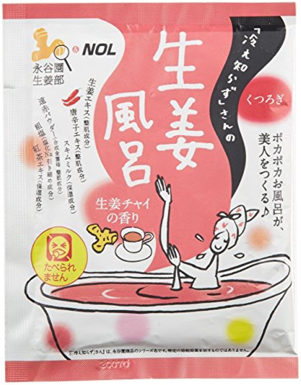 からかうフォーマル合理化ノルコーポレーション 入浴剤 冷え知らずさんの生姜風呂 40g 生姜チャイの香り NGT-1-03