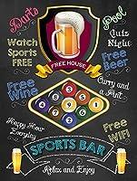 The Game Sports Bar ティンサイン ポスター ン サイン プレート ブリキ看板 ホーム バーために
