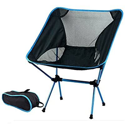 Ultralight Aluminum Alloy Folding Camping Camp Chair Outdoor Hiking Patio Backpacking
