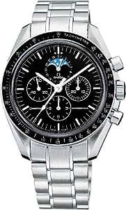 [オメガ]OMEGA 腕時計 スピードマスタームーンフェイズ ブラック文字盤 手巻き クロノグラフ 3576.50 メンズ 【並行輸入品】