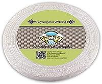 国Brookデザイン1/ 2インチホワイトPolypro Webbing 25 Yards ホワイト WP-WHI-1.2-25 1