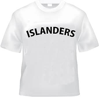 ヲワタ淫夢Tシャツ 野獣先輩ISLANDERS (XL, 白)