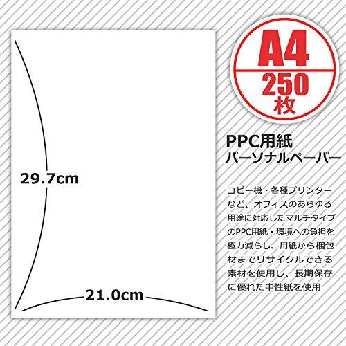 アピカ コピー用紙 パーソナルペーパー A4 250枚 PPN25A4P