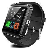 YUNTAB(JP) Bluetooth smart watch U8 スマート ウォッチ 1.44インチ 超薄型フルタッチ ウォッチ着信通知/置き忘れ防止/歩数計/消費カロリ/アラーム/時計 (黒)