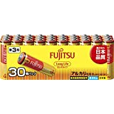 富士通 【Long Life】 アルカリ乾電池 単3形 1.5V 30個パック 日本製 LR6FL(30S)