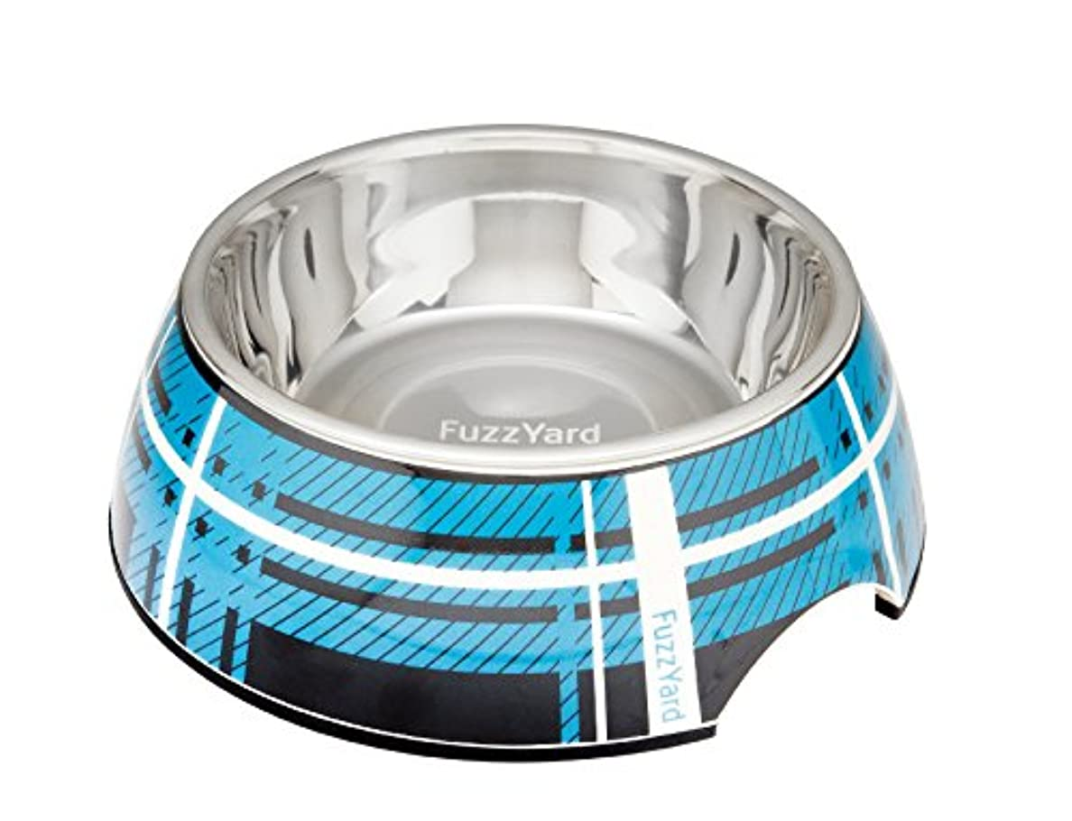 マイルド中性フィラデルフィアファズヤード (FuzzYard) 二層食器 チェック青 S