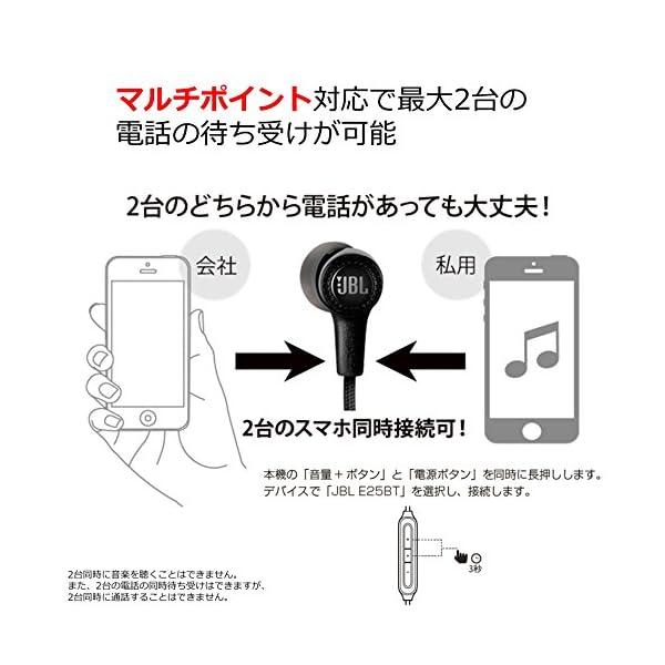 JBL E25BT Bluetoothイヤホン...の紹介画像4
