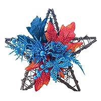 baoyoulsハロウィン木製スター壁掛け飾りプラスチックカボチャ偽ベリーメープルリーフパーティー装飾秋収穫ドアリース