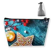 クリスマスツリー ボール リボン 化粧ポーチ メイクポーチ コスメポーチ 化粧品収納 軽い 軽量 防水 出張 旅行も便利 小物入れ 携帯便利 多機能 バッグ 小さな化粧品の袋