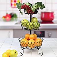 フルーツバスケット フルーツスタンド 家庭用ラック 果物 ケース 小物入れ 結婚式 誕生日 パーティー 装飾 フルーツ ストレージ ボウル3段