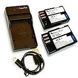 【 6ヶ月保証 】 ペンタックス D-Li90 / D-Li90P ×2個 + USB充電器のセット 互換バッテリー Pentax K-01 K-3 K-5 K-5II K-5IIs K-7 645D ...Nucleus Power製 (バッテリー2個 + USB充電器)