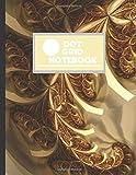 DOT GRID NOTEBOOK: GOLDEN FRACTAL SWIRL DESIGN COVER | 8.5