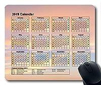 2019カレンダー付き大切な休日用パッド、マウスパッド、空と砂ゲーム用マウスパッド