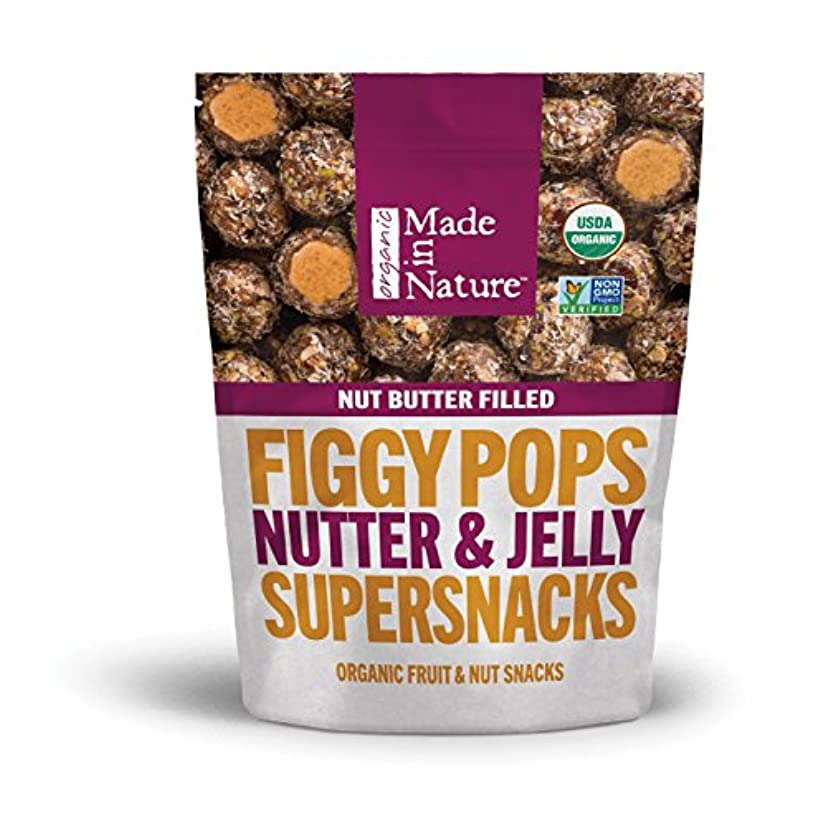 乗って下位酸度Made in Nature Figgy Pops Nutter & Jelly Supersnacks フィギーポップナター&ゼリースーパースパークス100g [並行輸入品]