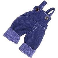 Dovewill  1/6スケール BJD SDドルフィー人形対応 ファッション ビブ パンツ ズボン 服装 ブルー