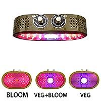 1100W LED COBフルスペクトル植物成長ランプ、ダブルノブ調光器スイッチ植物成長ランプ、屋内野菜および花温室用ランプに使用,ブラウン