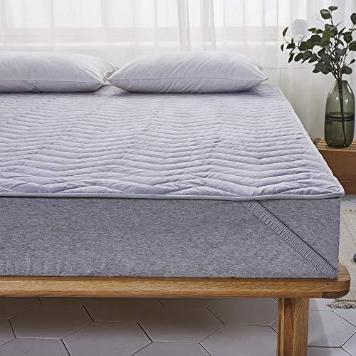敷きパッド 綿100% 丸洗いOK ベッドパッド 四隅ズレ防...