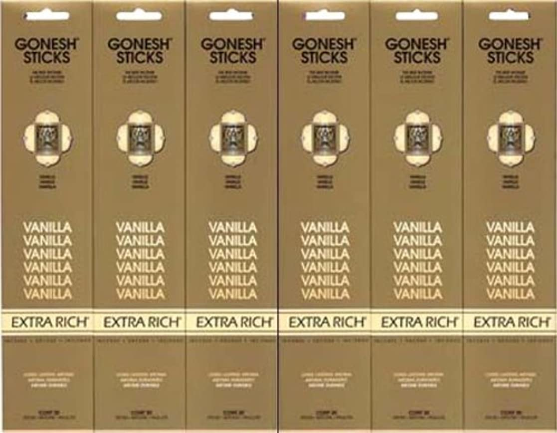 教育者分離する急ぐGONESH  VANILLA バニラ  20本入り X 6パック (120本)