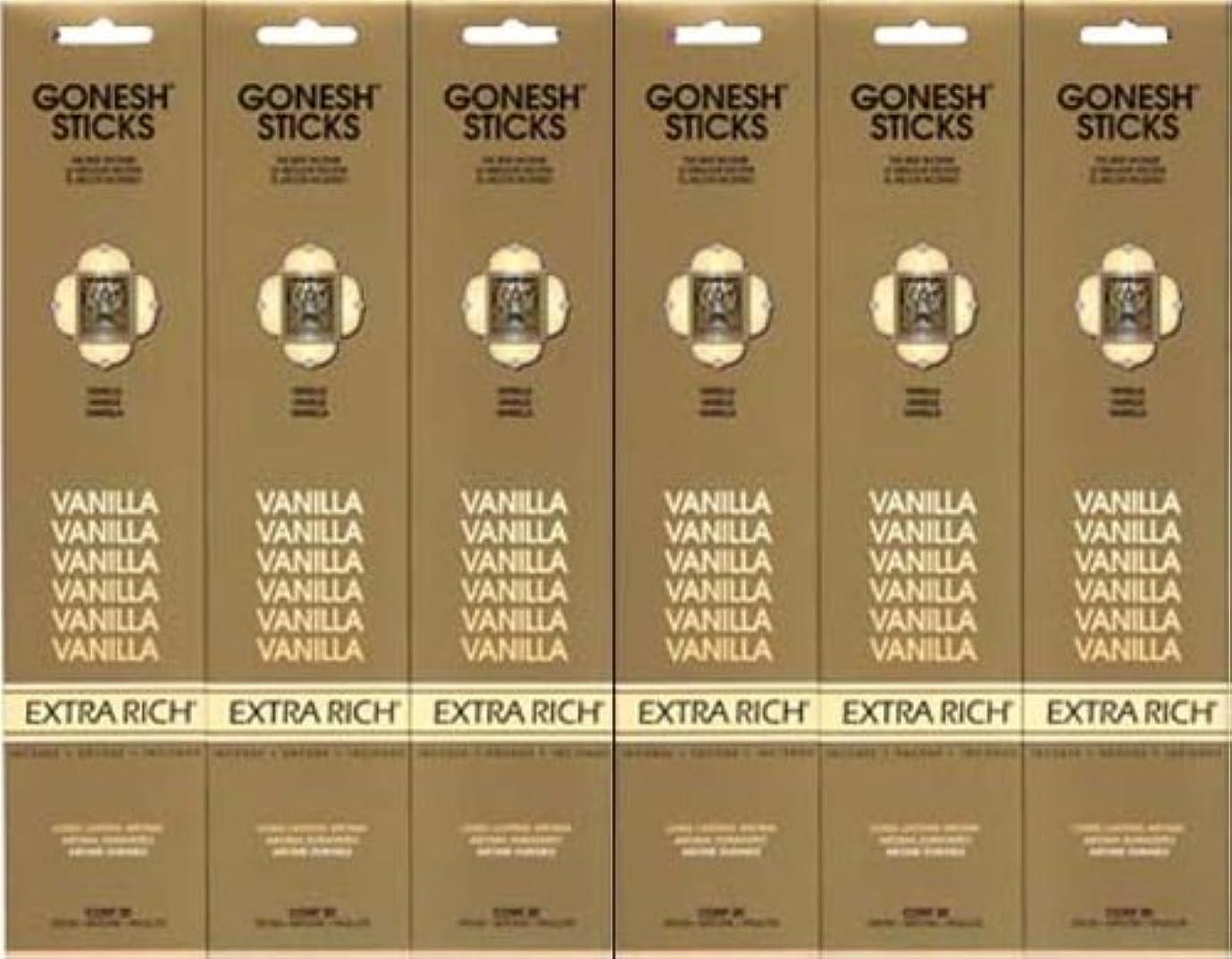 の量生息地プレフィックスGONESH  VANILLA バニラ  20本入り X 6パック (120本)