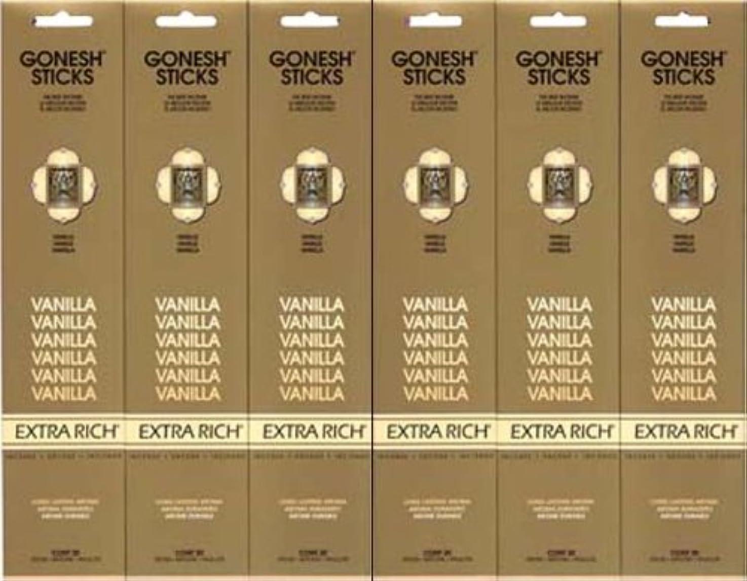 共同選択独創的大腿GONESH  VANILLA バニラ  20本入り X 6パック (120本)