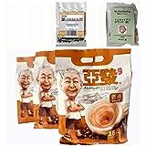 マレーシア 電源ルート アーフアットおじさんのコーヒー(スムーズ)インスタントホワイトコーヒー (クリーマ、砂糖入り) 30g x15小袋 (450g) X 3パック +トンカットアリハーブ5gとサラワクペッパー5g付き...