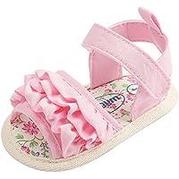 ベビーサンダル、AutumnFallベビー女の子フラワーサンダル靴滑り止めソフトソール幼児用靴 Age:12~18 Month ピンク