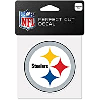 NFL ピッツバーグ?スティーラーズ 63065011 パーフェクトカット カラー デカール 4インチ x 4インチ ブラック