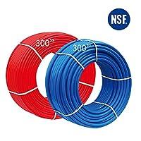 EFIELD PEX パイプ/チューブ (NSF認証) ブルー&レッド 3/4インチ 2X 300フィート ロール 600フィート 飲料水用