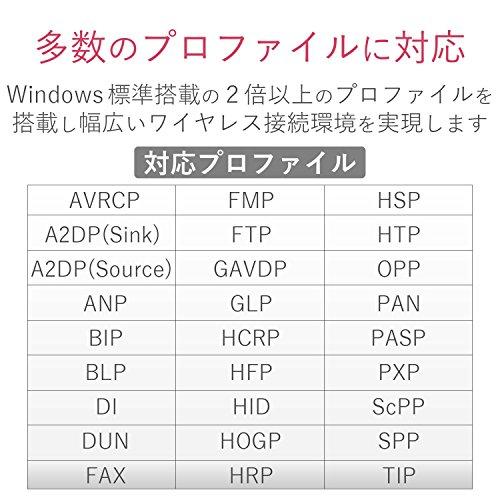 エレコム Bluetooth USBアダプタ 超小型 Ver4.0 EDR/LE対応(省電力) Class2 Windows10対応 LBT-UAN05C2