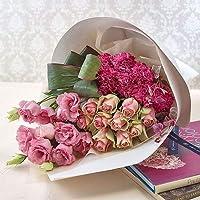 【日比谷花壇】バラ 花束「ミニョンフルール」ピンク